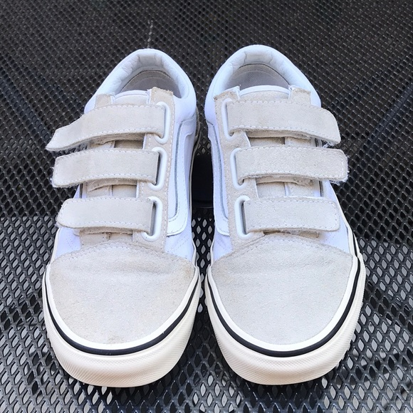 Vans Shoes | Cream White Colored Velcro